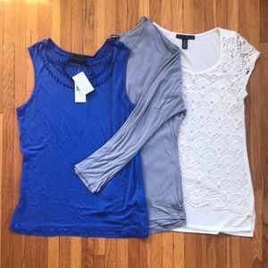 BUNDLE of 3 large knit tops: Express, NWT i jeans by Buffalo, French Laundry